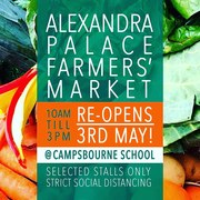 Ally Pally Farmers Market re-opens today