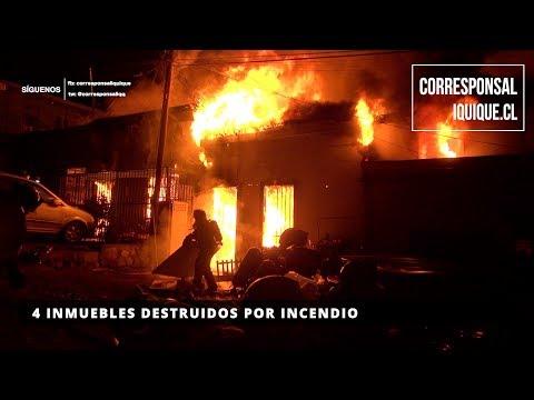 4 INMUEBLES DESTRUIDOS POR INCENDIO - IQUIQUE EN CHILE (2019)