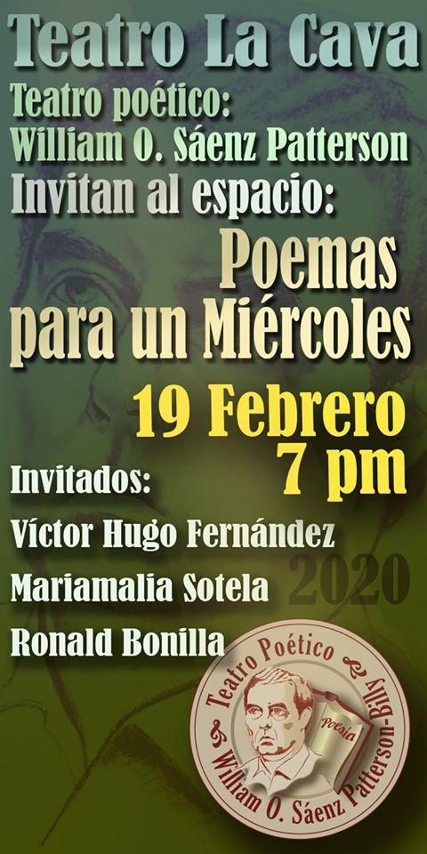 Recital Teatro poético 19 de febrero