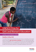 UNESCO Prize for Girls' and Women's Education: call for nominations 2020