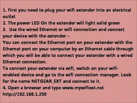 Netgear EX7300 Setup