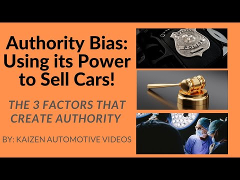 Authority Bias:Using its Power to Sell Cars!