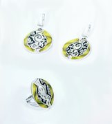 Ohrringe &Ring von Cloisonne Enamel