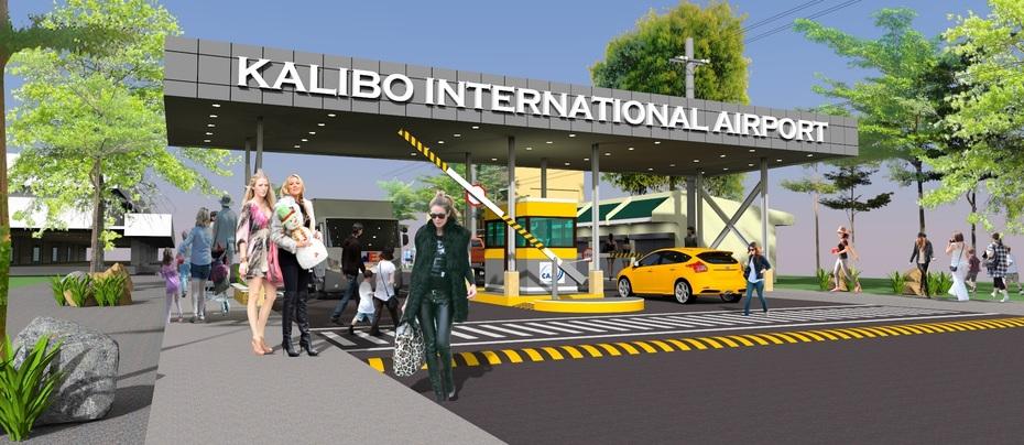 Kalibo Int'l Airport entrance-exit tollgate.