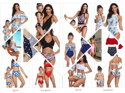 Places to Shop Mommy and Me Swimsuits Online.