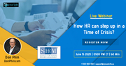 How HR can step up in a Time of Crisis?
