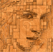 3D Portrait Wood
