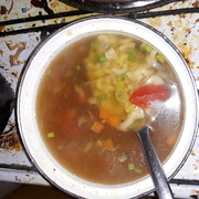 Hungarian fast vegetable soup