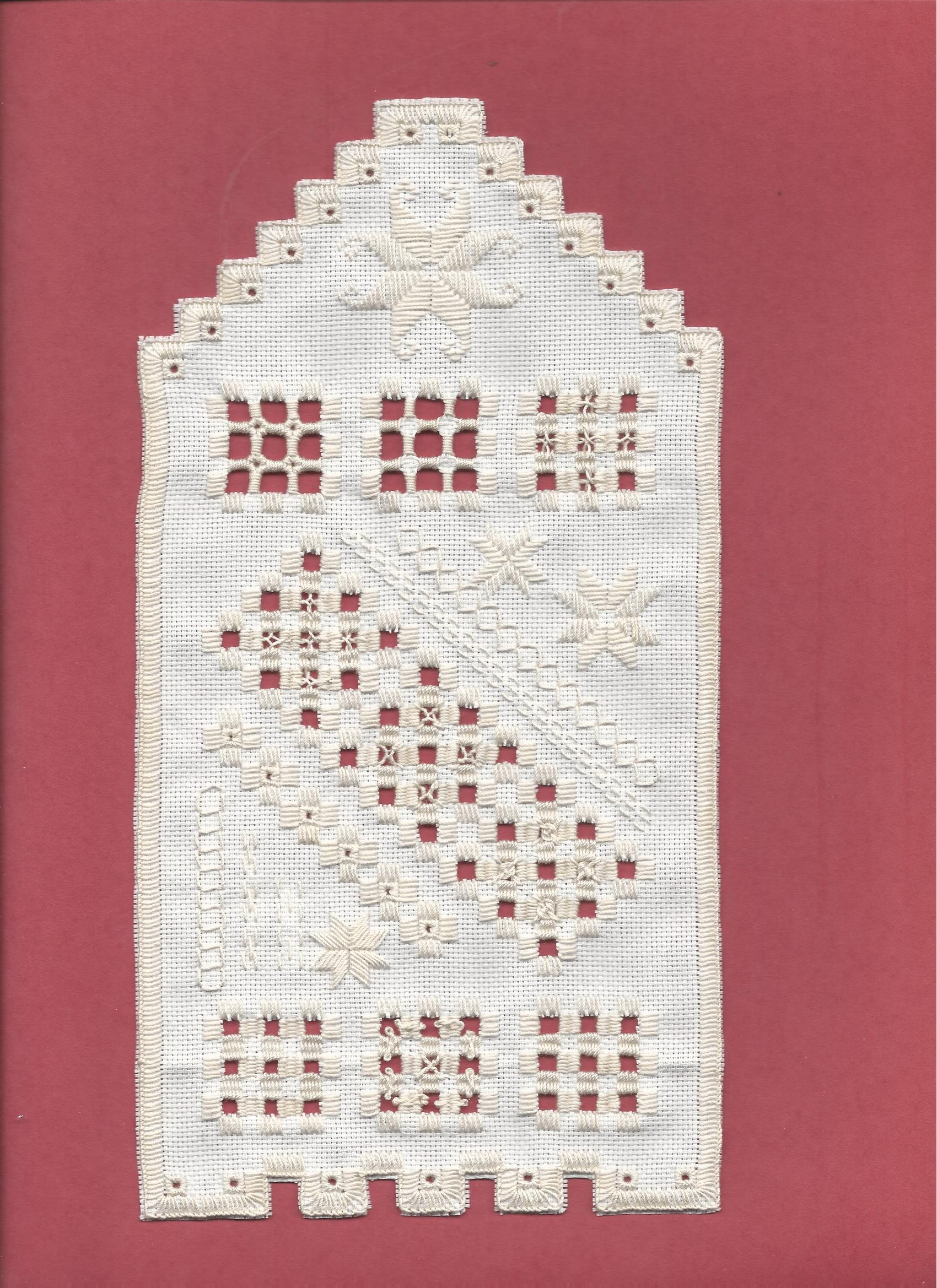 Lorelei's Hardanger design, finished May 26,2020