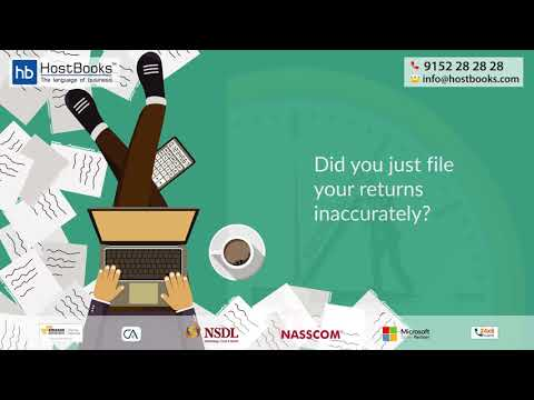 HostBooks GST Software: One Stop Solution for all the GST Issues