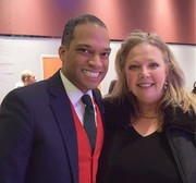 DC Ward 4 Councilmember Brandon Todd and me at Christmas Party