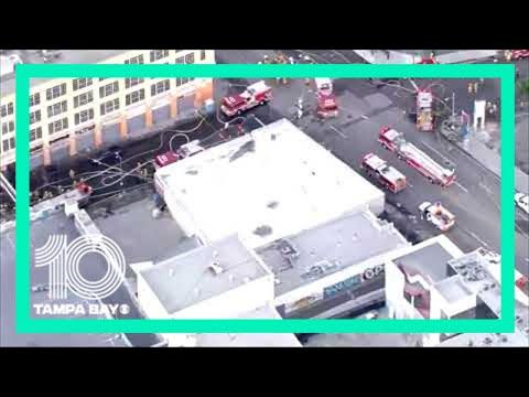 #BREAKING: 10 firefighters hurt in downtown Los Angeles fire