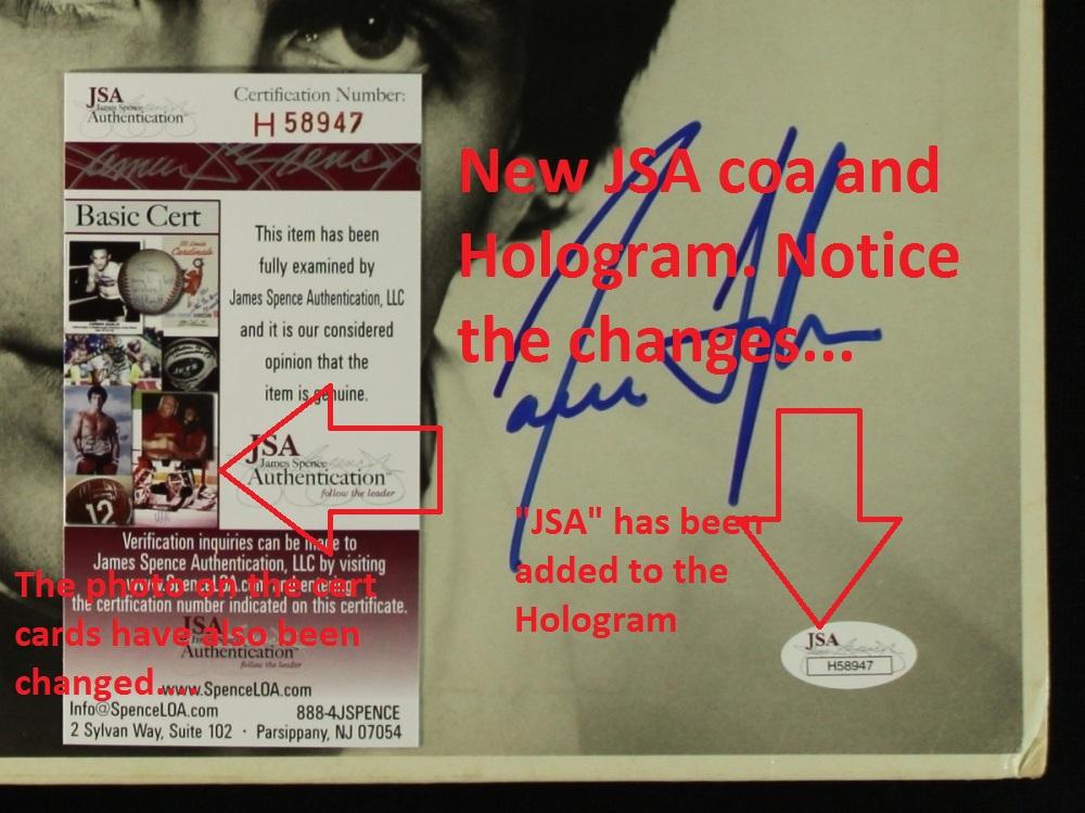 jsa fake coa market hologram beware proof place being card