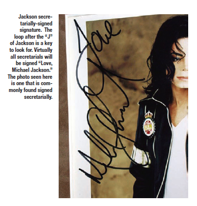Other Questionable Michael Jackson Signatures Amp Items Sold