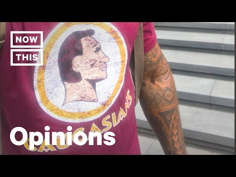 Frederick Joseph Wears 'Caucasians' Shirt To Parody Redskins Logo | Op-Ed | NowThis