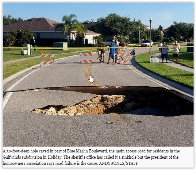 Sinkhole Incidents On the Rise – Earth Changes and the Pole