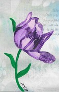 Norma Soulet-flower painting