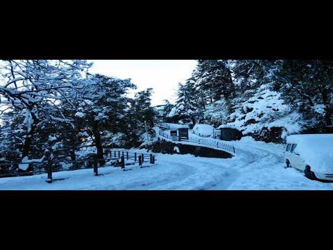 Snowfall in Dhanaulti