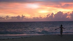 Erster Morgen am Strand
