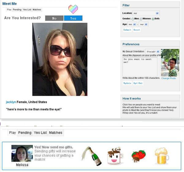 Can you search for someone on meetme