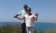 Tel Aviv capital de Israel com minha esposa.