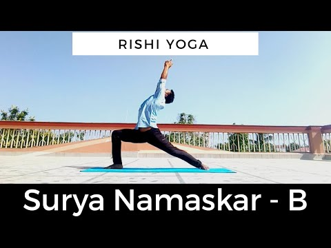 How to : Sun Salutation B with Rishi Yoga /Surya Namaskar B /#yogapractice #yogainspiration #vinyasa