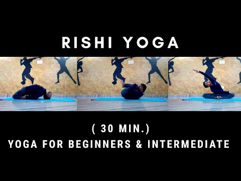 Yoga for Beginners & Intermediate ( 30 Min.) /Rishi Yoga /  #YogaPose  #YogaLover #YogaPassion