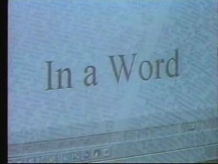 Mark Coggins on In a Word