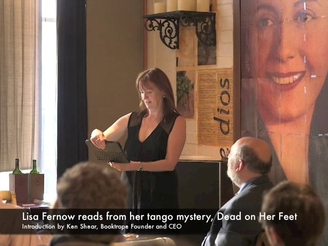 Lisa Fernow reading from her tango mystery, Dead on Her Feet