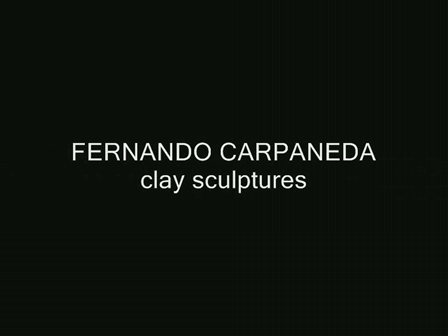 Street kid-clay sculpture by Fernando Carpaneda