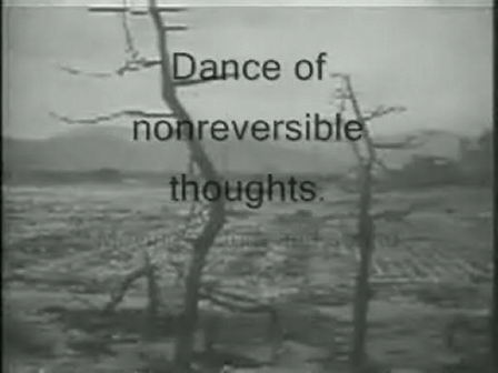 Dance of nonreversible thoughts