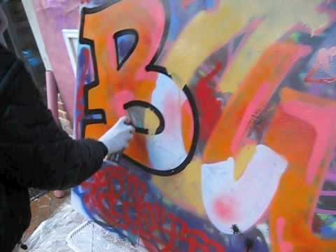 Graffiti Tutorial #2 Spraypaint Techniques MWNYC