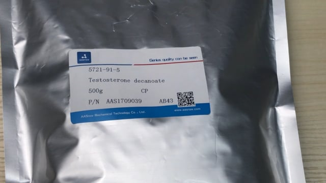 Raw Testosterone decanoate powder (5721-91-5) hplc≥98% | AASraw Anabolics Steroids powder