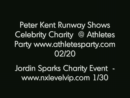 Peter Kent Runway Shows @ Super Bowl Parties and Charity Events