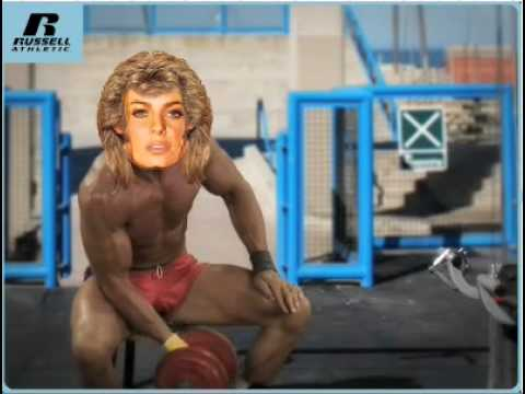 Russell Athletic 80s-izer muscle beach body builder