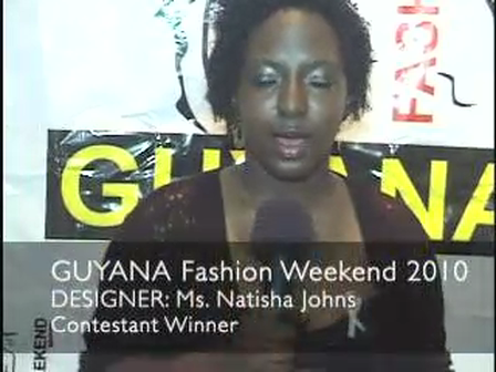 Natisha Johns prepares for Guyana Fashion Weekend