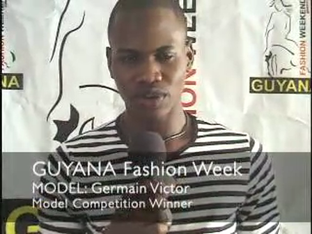 Germain Victor promotes Guyana Fashion Weekend event