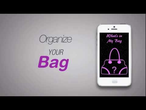 What's in my bag iPhone app - Promo