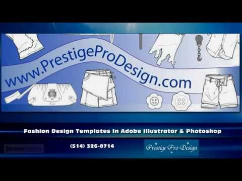 Illustrator Fashion templates | Fashion design sketches -- Prestige Pro Design