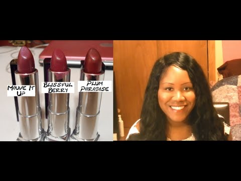 Maybelline Color Sensational Lipsticks Plum Collection Review and Swatches
