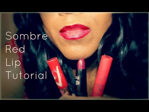 Sombre (Subtle Ombre) Red Lip Tutorial