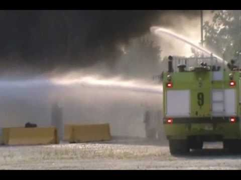 Airport Firefighters and Fire Trucks Training at Hartsfield-Jackson