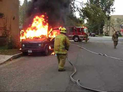 Biggest Idiot - Don't smoke in your van with lawnmowers and gas cans