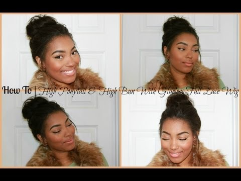 How To   High Ponytail & High Bun With RPGShow Glueless Lace Wig