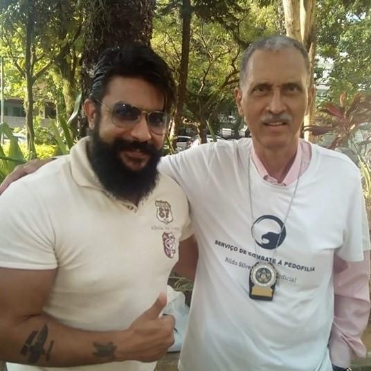 Com o Comissário Dr Daniel Gomes do DGHPP - Departamento Geral de Homicídios (Policia Civil do RJ)