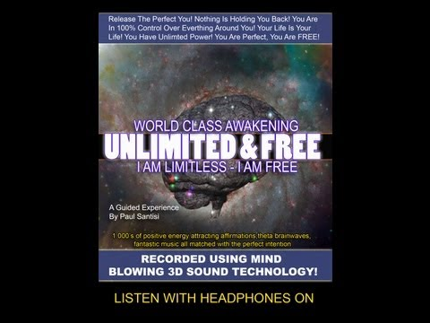 3D SOUND 1000's Of Positive Affirmations Meditation Awaken Energy Vibration Luck Health Paul Santisi
