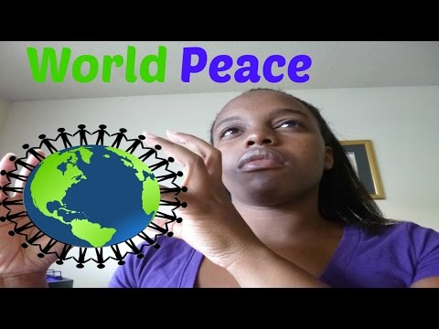 Can We Manifest World Peace?