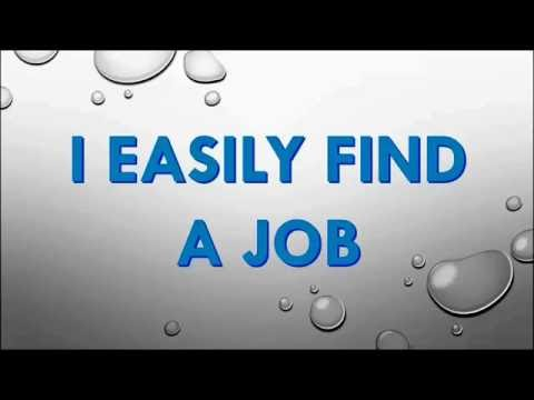 Powerful Positive Affirmations ★ Easily Find A Job ★ HD ★ Subliminal Hypnosis ★ Binaural Beats