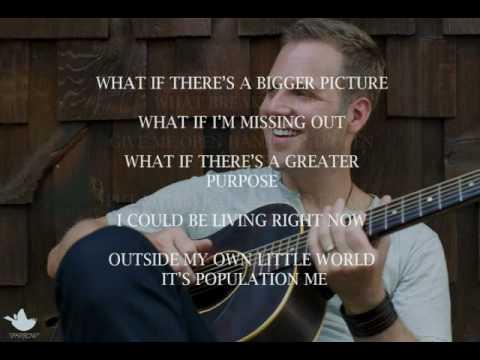 Matthew West - My Own Little World (Slideshow With Lyrics)