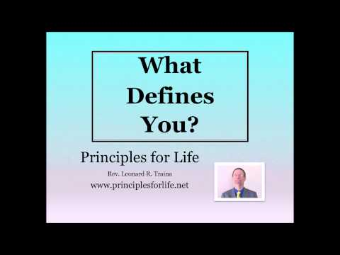 What Defines You Original   Part 3 of 3